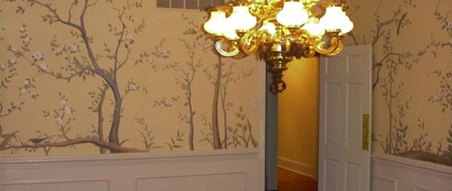 Beautiful oriental dining room mural | Art Interior Murals ...